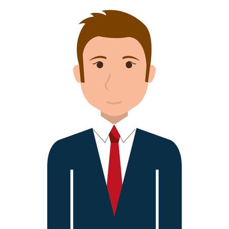 cartoon work: Businessman executive profile cartoon theme design, vector illustration graphic.