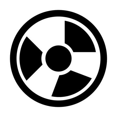 nuclear accident: Industrial security equipment isolated icon, vector illustration graphic design.