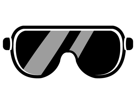 safety googles: Industrial security equipment isolated icon, vector illustration graphic design.