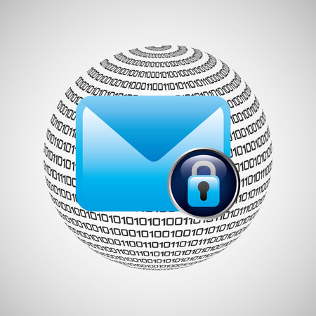 infomation: Security mail icon with infomation design vector