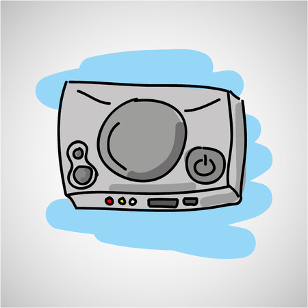 gamer: console with gamer play icon vector illustration Illustration