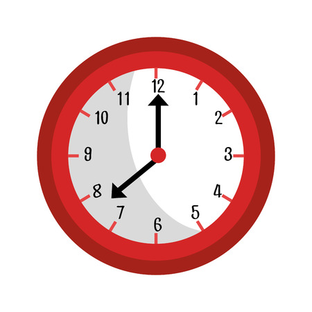 icom: Clock isolated flat icom, time concept graphic design, vector illustration.