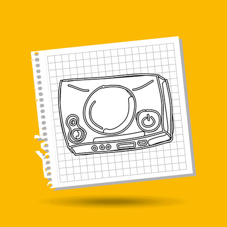 gamer: tv with gamer play icon vector illustration
