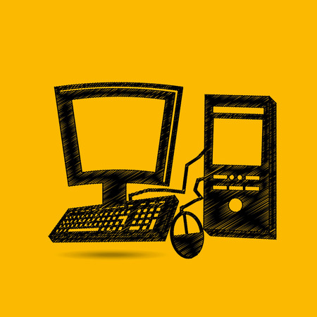 gamer: pc for gamer playing icon vector illustration