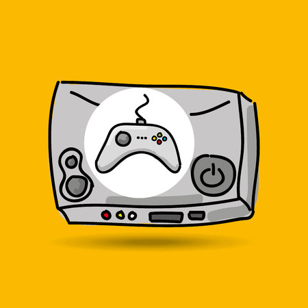 gamer: console for gamer play icon vector illustration