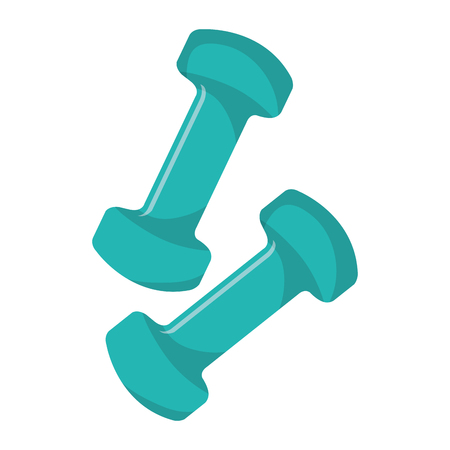 gym equipment: Gym and fitness equipment graphic design, vector illustration icon.