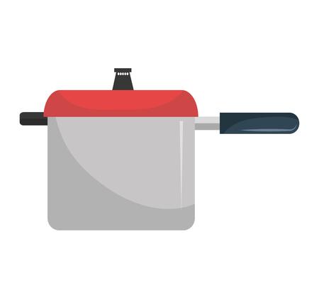 Werktuig van de keuken kleurrijk pictogram, vector afbeelding afbeelding. Stock Illustratie