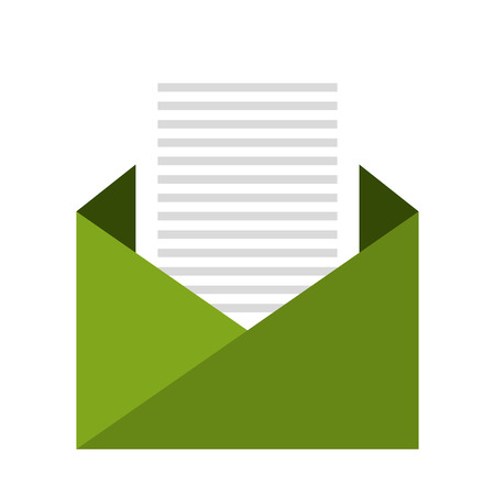 mailing: Electronic mail or mailing isolater flat icon, vector illustration.
