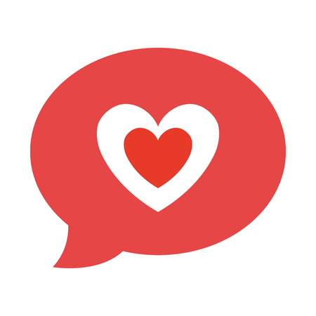 feelings: Red heart shape isolated icon, love and feelings design.