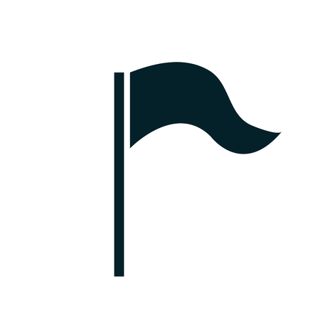 black flag: Black flag isolated icon, vector illustration graphic design.