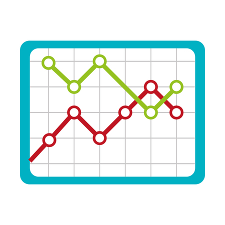 decrease: Financial decrease statistics isolated icon graphic design, vector illustration. Illustration
