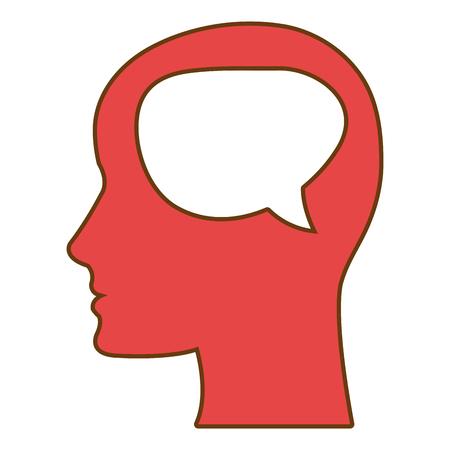 human mind: Human mind thinking isolated icon, vector illustration graphic.