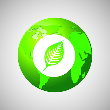 生態生物アイコン、緑の概念、保存ベクトル イラスト