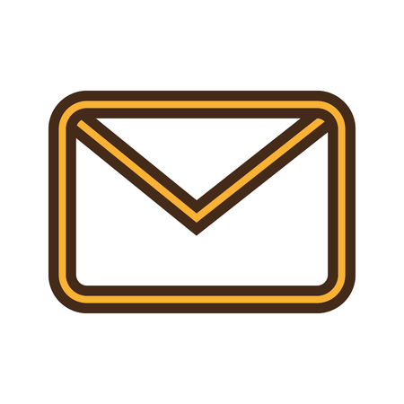 mailing: Email or mailing isolted icon design, vector illustration graphic. Illustration