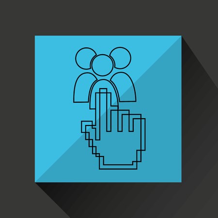 mouse cursor: mouse cursor pointing technology icon, vector illustration
