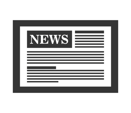 journalism: News on internet, techonology and journalism graphic design, vector illustration.
