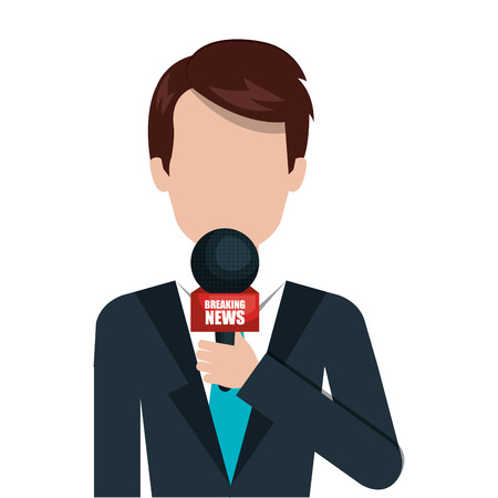 isolatd: News media isolatd icon design, vector illustration graphic.