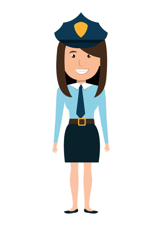 female judge: Police officer cartoon graphic design, vector illustration isolated icon.