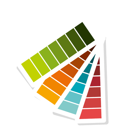 pantone: Pantone with differents colors isolated icon, vector illustration graphic desgn.