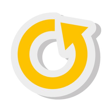 flechas direccion: flecha colorido en una dirección plana aislado icono, ilustración vectorial. Vectores