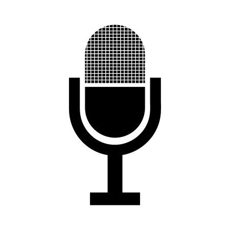 radio microphone: Radio microphone isolated flat icon, vector illustration graphic design. Illustration