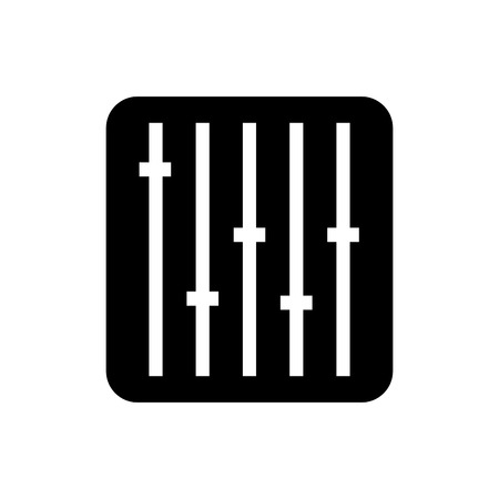 voice recorder: Sound equalizer command black and white icon, vector illustration design. Illustration