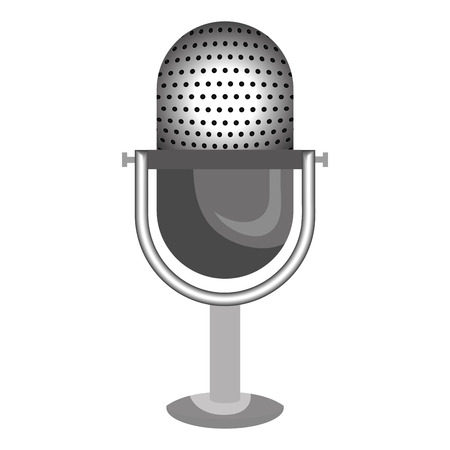 Radio microphone isolated flat icon, vector illustration graphic design. Vettoriali