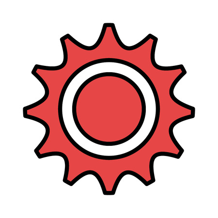 gearing: Gear,cog or wheel graphic design, vector illustration isolated icon. Illustration