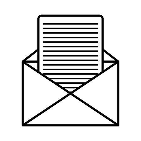 mailing: Email or mailing isolted flat icon, vector illustration graphic.