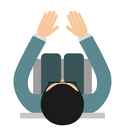 businessperson: businessperson sitting  isolated icon design, vector illustration  graphic Illustration