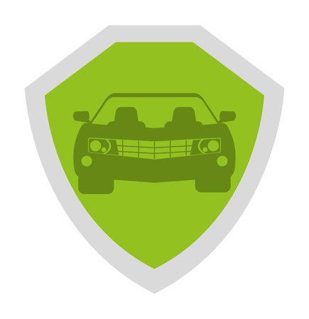 defend: security shield isolated icon design, vector illustration  graphic