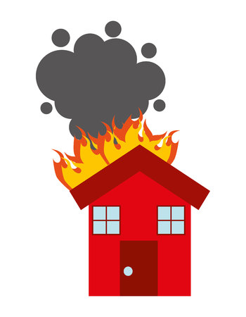 burning house: burning house isolated icon design, vector illustration  graphic