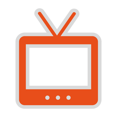 old tv: old tv isolated icon design, vector illustration  graphic