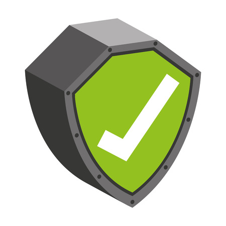 encryption icon: security shield with check symbol isolated icon design, vector illustration  graphic Illustration