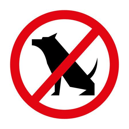 prohibido: perros prohibidos aislado icono del diseño, ejemplo gráfico del vector