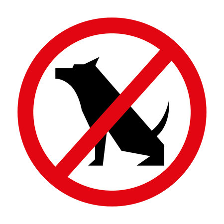 prohibited: prohibited dogs isolated icon design, vector illustration  graphic