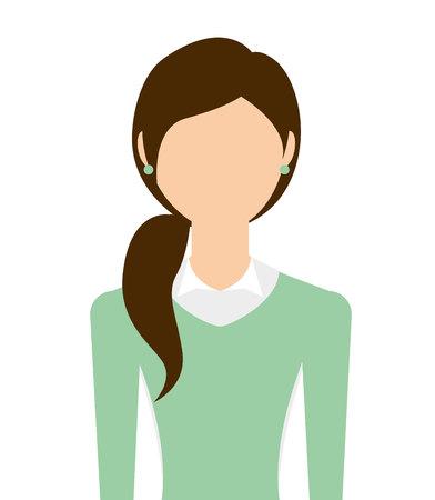 businesswoman standing: businesswoman standing isolated icon design, vector illustration  graphic