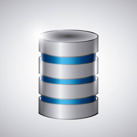 data base: Technology and data base design represented by web hosting icon. Colorfull and isolated illustration.