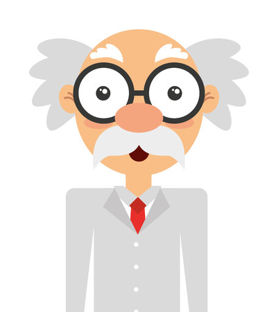 inventor: scientific character isolated icon design, vector illustration  graphic Illustration