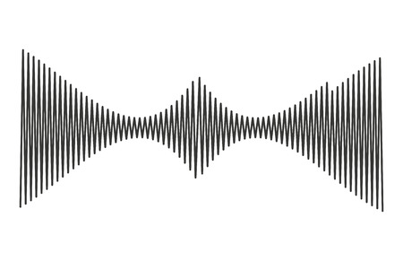 musical waves isolated icon design, vector illustration  graphic