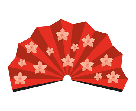japanese fan: japanese fan isolated icon design, vector illustration  graphic