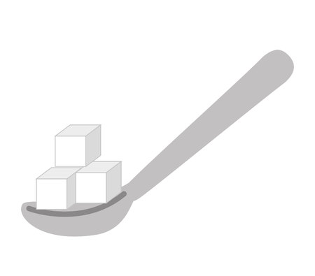 sugar spoon: spoon with sugar isolated icon design, vector illustration  graphic