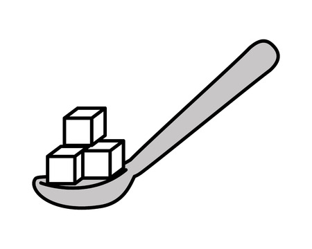 sweetener: spoon with sugar isolated icon design, vector illustration  graphic