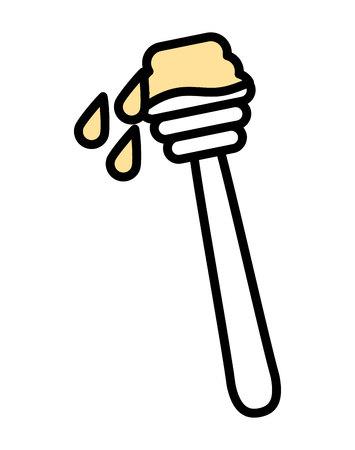dipper: honey dipper isolated icon design, vector illustration  graphic Illustration