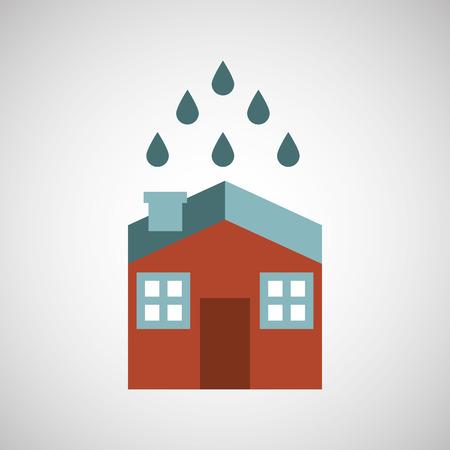 asegurar el hogar riesgo seguro de protección aislado, ilustración vectorial Ilustración de vector
