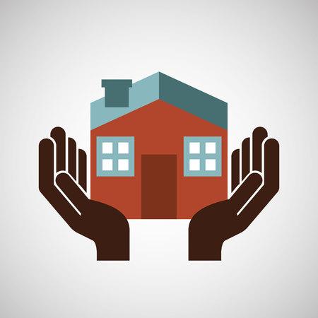 asegurar el hogar riesgo seguro de protección aislado, ilustración vectorial
