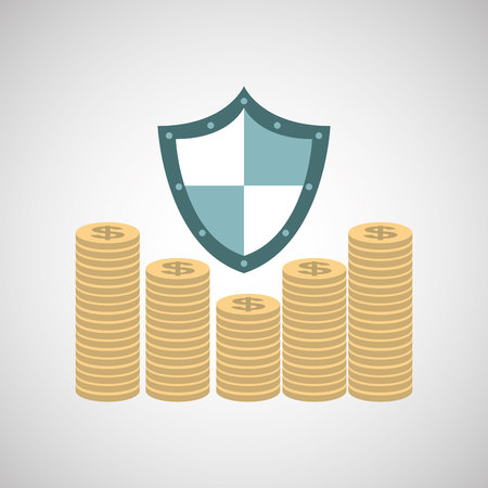 ensure: ensure protection insurance risk money isolated, vector illustration