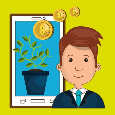 financing: funding concept design, vector illustration eps10 graphic Illustration