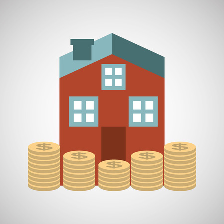 ensure: ensure protection insurance risk house isolated, vector illustration