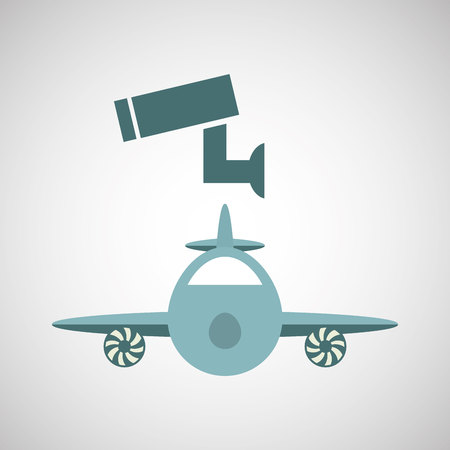 bad service: ensure protection insurance risk airplane isolated, vector illustration Illustration
